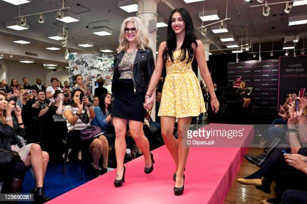 Kelly Osbourne and Lourdes Leon attend the Material Girl 1st birthday celebration at Macy's Herald Square on September 20 2011 in New York City