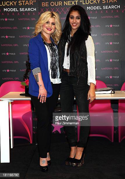 Kelly Osbourne and Lourdes Leon attend the Material Girl Lucky Stars casting call at Macy's Herald Square on November 2 2011 in New York City
