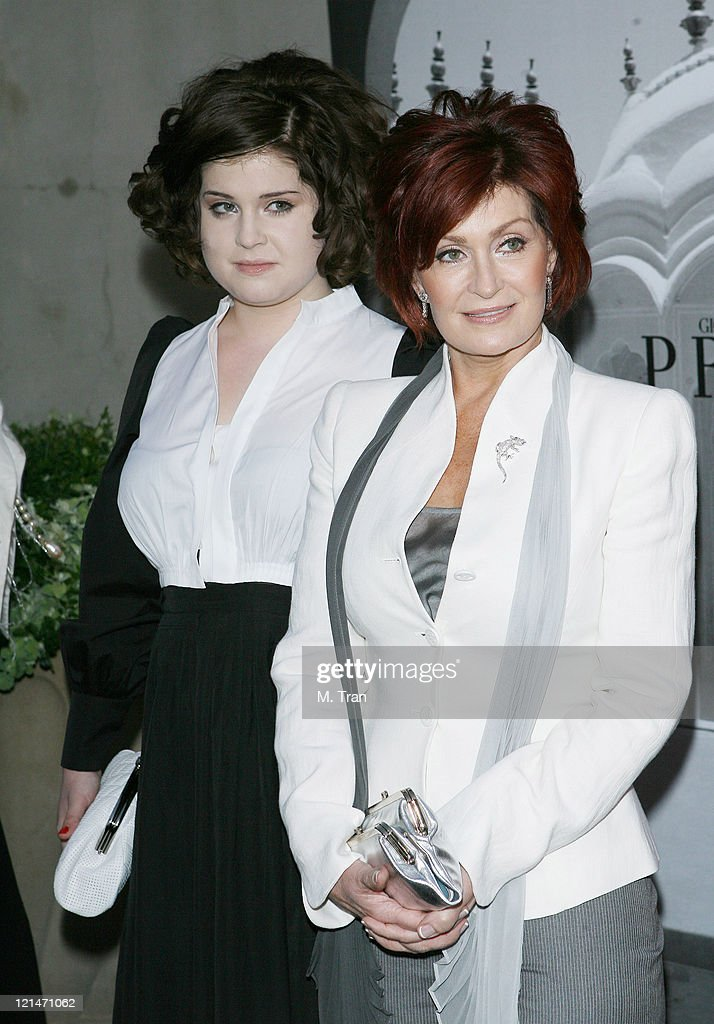 Kelly Osbourne and Sharon Osbourne during Giorgio Armani Celebrates 2007 Oscars with Exclusive Prive Show at Green Acres Estates in Beverly Hills, California, United States.