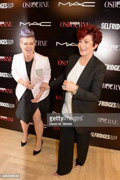 Kelly Osbourne and Sharon Osbourne pose at a photocall to celebrate their MAC collaboration launching today and the Selfridges Beauty Project at MAC...