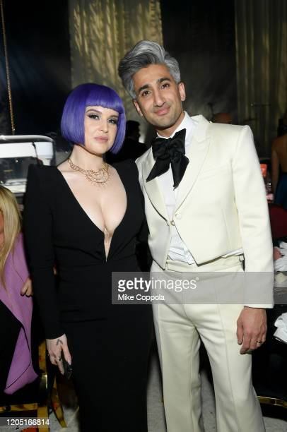 Kelly Osbourne and Tan France attend the 28th Annual Elton John AIDS Foundation Academy Awards Viewing Party sponsored by IMDb Neuro Drinks and...