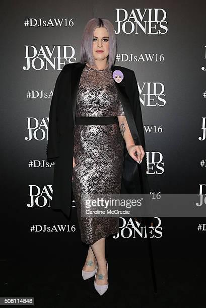 Kelly Osbourne arrives ahead of the David Jones Autumn/Winter 2016 Fashion Launch at David Jones Elizabeth Street Store on February 3 2016 in Sydney...