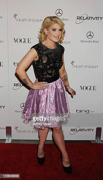 """Kelly Osbourne arrives at Art Of Elysium's 4th Annual """"Heaven"""" Charity Gala at California Science Center's Wallis Annenberg Building on January 15,..."""