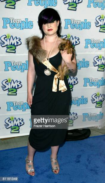 """Kelly Osbourne arrives at the 1st Annual Teen People """"Young Hollywood"""" Issue party held on August 7, 2004 at the Teen People mansion in the Hollywood..."""