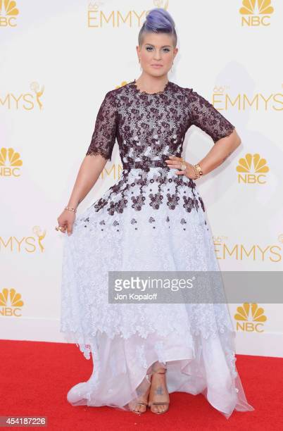 Kelly Osbourne arrives at the 66th Annual Primetime Emmy Awards at Nokia Theatre LA Live on August 25 2014 in Los Angeles California