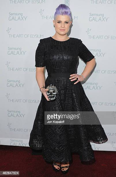 Kelly Osbourne arrives at The Art Of Elysium 8th Annual Heaven Gala at Hangar 8 on January 10, 2015 in Santa Monica, California.