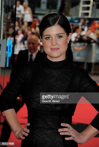 Kelly Osbourne arrives at the European film premiere of The Dark Knight at the Odeon Leicester Square on July 21 2008 in London England