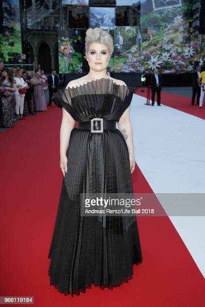 Kelly Osbourne arrives for the Life Ball 2018 at City Hall on June 2 2018 in Vienna Austria The Life Ball an annual charity event raising funds for...
