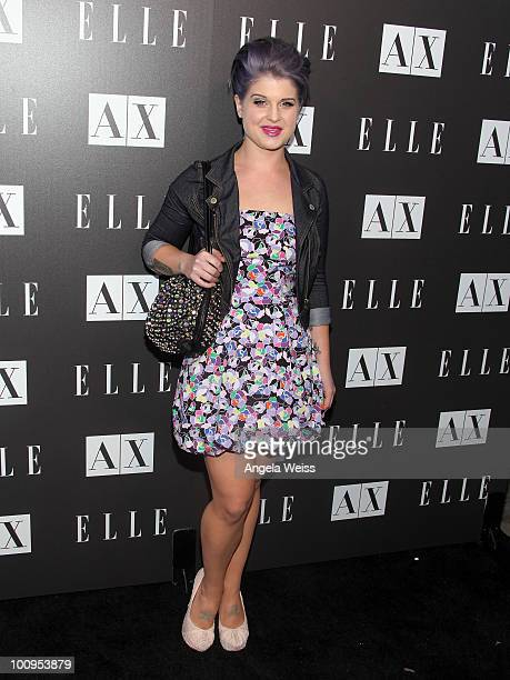 Kelly Osbourne arrives to A|X Armani Exchange and ELLE's Joe Zee's 'Disco Glam' soiree evening at A|X Robertson Store on May 25 2010 in Los Angeles...