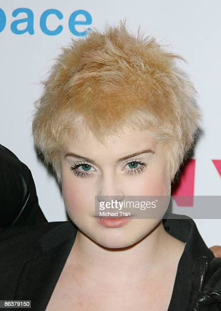 Kelly Osbourne arrives to the NYLON Magazine and MYSPACE Young Hollywood party held at The Roosevelt Hotel on May 4 2009 in Hollywood California