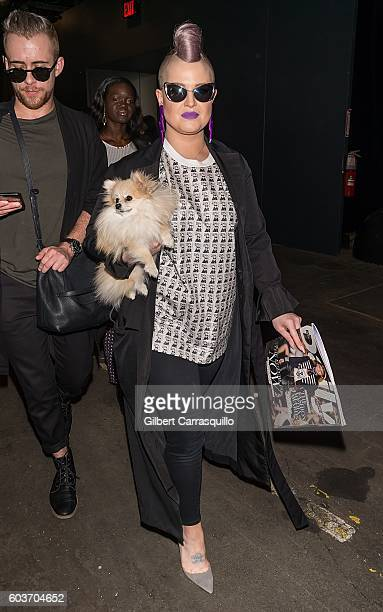 Kelly Osbourne attends Jeremy Scott fashion show during New York Fashion Week: The Shows at The Arc, Skylight at Moynihan Station on September 12,...
