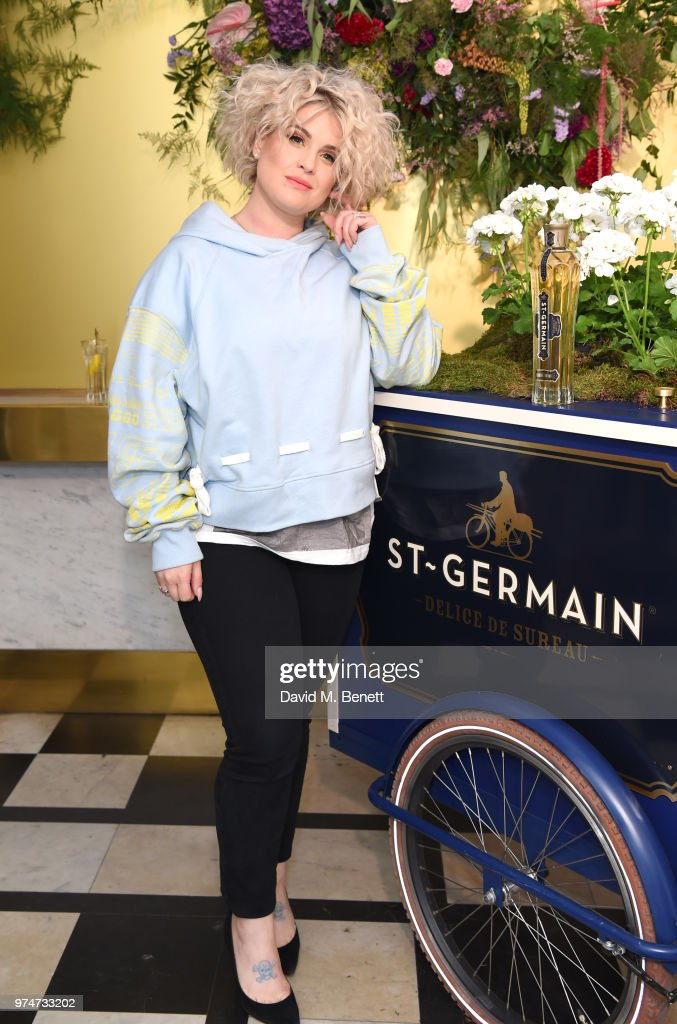 Kelly Osbourne attends Maison St Germain x House of Holland Opening Night in Mayfair on June 14, 2018 in London, England.