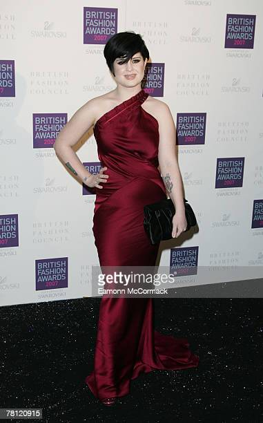 Kelly Osbourne attends the British Fashion Awards at the Royal Horticultural Halls on November 27, 2007 in London, England.
