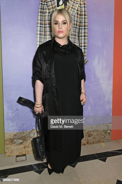 Kelly Osbourne attends the Burberry x Adwoa cocktail party at Thomas's on June 8 2018 in London Englan