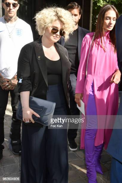 Kelly Osbourne attends the Dior Homme Menswear Spring/Summer 2019 show as part of Paris Fashion Week on June 23 2018 in Paris France