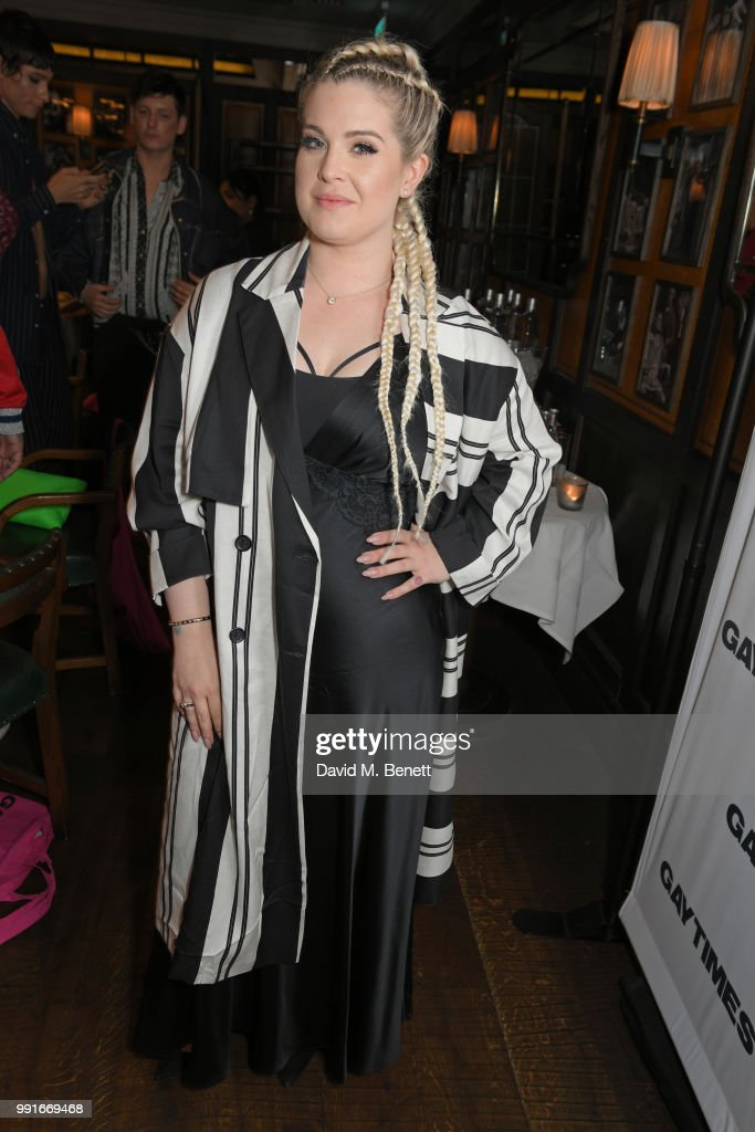 Kelly Osbourne attends the Gay Times dinner hosted by Kyle De'Volle at The Ivy Market Grill on July 4, 2018 in London, United Kingdom.