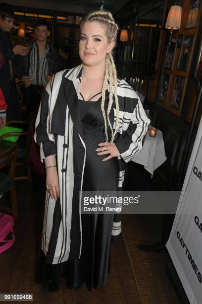 Kelly Osbourne attends the Gay Times dinner hosted by Kyle De'Volle at The Ivy Market Grill on July 4 2018 in London United Kingdom