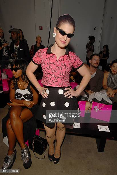 Kelly Osbourne attends the Gerlan Jeans show during Spring 2013 MercedesBenz Fashion Week at Pier 59 on September 13 2012 in New York City