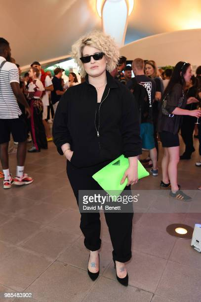 Kelly Osbourne attends the launch of the Palace x Adidas Wimbledon kit on June 27 2018 in London England