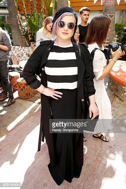 Kelly Osbourne attends the Villoid garden tea party hosted by Alexa Chung at the Hollywood Roosevelt Hotel on April 21 2016 in Hollywood California