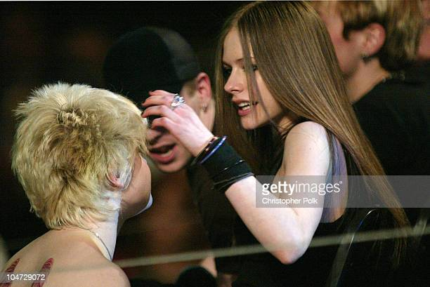 Kelly Osbourne Avril Lavigne during MTV Icon Metallica Show at Universal Studios Stage 12 in Universal City CA United States