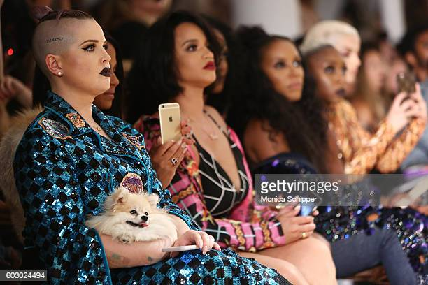 Kelly Osbourne Christina Milian Dascha Polanco and June Ambrose attend The Blonds fashion show during MADE Fashion Week September 2016 at Milk...