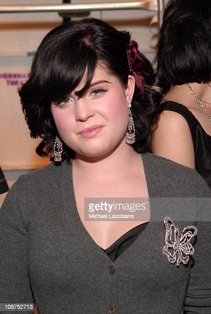 Kelly Osbourne during Olympus Fashion Week Spring 2006 Anna Sui Front Row and Backstage at Bryant Park in New York City New york United States