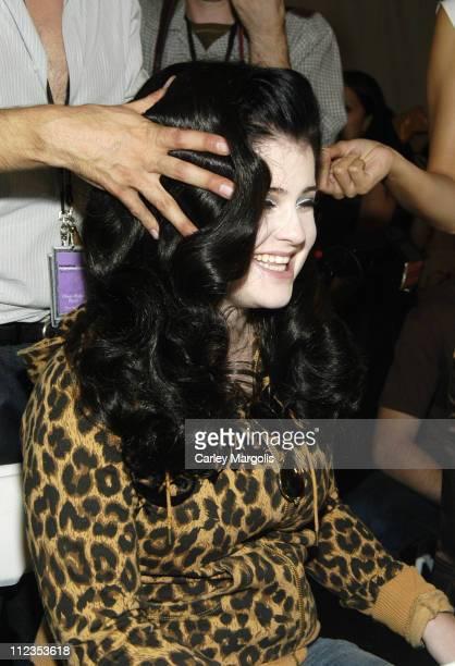 Kelly Osbourne during Olympus Fashion Week Spring 2006 Heatherette Backstage at Bryant Park in New York City New York United States