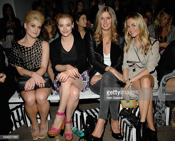 Kelly Osbourne Gillian Jacobs Nikki Hilton and Amanda Hearst attend the Elise Overland Spring 2011 fashion show during MercedesBenz Fashion Week at...