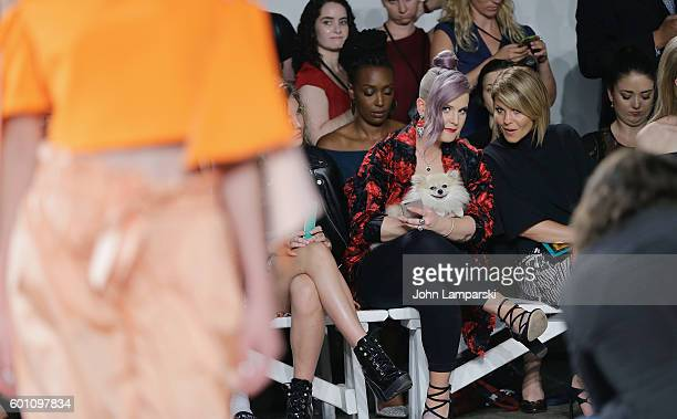 Kelly Osbourne her dog Polly and dog Polly and Candace CameronBure attend Milly Fashion Show during September 2016 New York Fashion Week at ArtBeam...