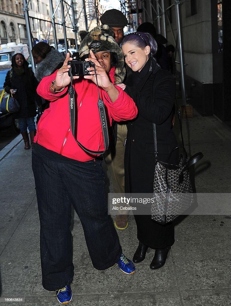 Kelly Osbourne is seen in Chelsea on February 4, 2013 in New York City.