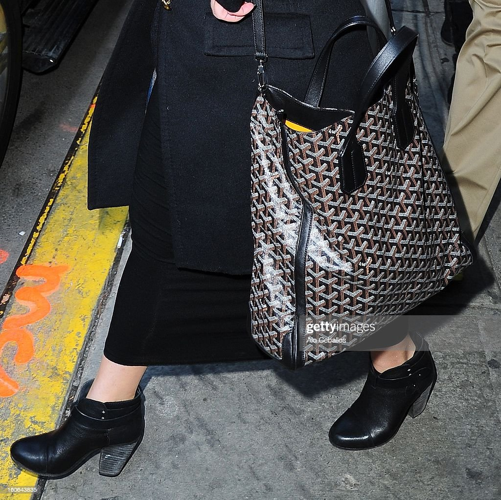 Kelly Osbourne (purse and shoe detail) is seen in Chelsea on February 4, 2013 in New York City.
