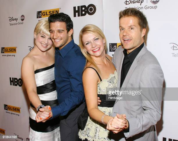 Kelly Osbourne Mark Ballas Melissa Joan Hart and Louis van Amstel arrive to the 5th Annual GLSEN Respect Awards held at the Beverly Hills Hotel on...