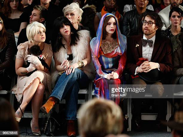 Kelly Osbourne model Charlotte Kemp Muhl and singer Sean Lennon attend Michael Angel Fall 2010 at MercedesBenz Fashion Week at Bryant Park on...