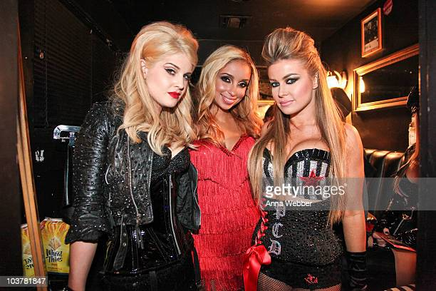 Kelly Osbourne Mya and Carmen Electra attend the Bing Sunset Strip Summer Concert With The Pussycat Dolls on September 1 2010 in Los Angeles...