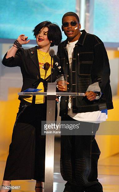 Kelly Osbourne Nelly during 2002 MTV Video Music Awards Show at Radio City Music Hall in New York City New York United States