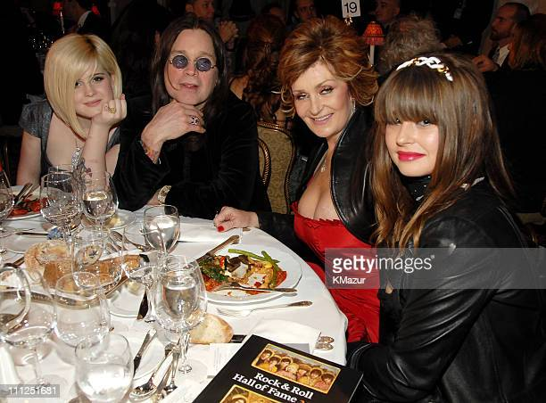 Kelly Osbourne Ozzy Osbourne of Black Sabbath inductee Sharon Osbourne and Aimee Osbourne