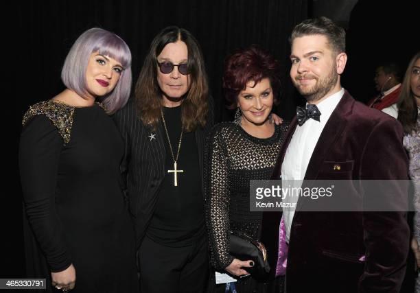 Kelly Osbourne Ozzy Osbourne Sharon Osbourne and Jack Osbourne attend the 56th GRAMMY Awards at Staples Center on January 26 2014 in Los Angeles...