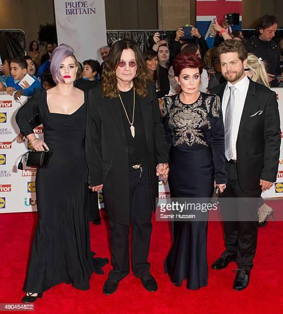 Kelly Osbourne Ozzy Osbourne Sharon Osbourne and Jack Osbourne attent the Pride of Britain awards at The Grosvenor House Hotel on September 28 2015...