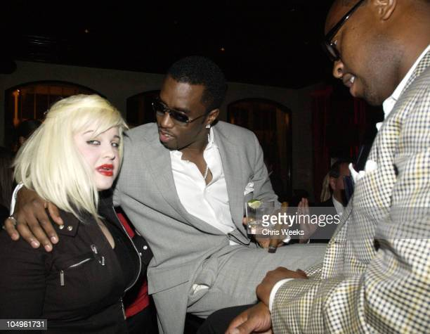 Kelly Osbourne P Diddy Andre Harrel during Endeavor's MTV Movie Awards Party Featuring Ciroc Vodka And LG Mobile Phones at Dolce in West Hollywood...