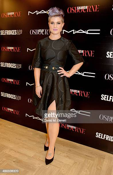 Kelly Osbourne poses at a photocall to celebrate her and mother Sharon's MAC collaboration launching today and the Selfridges Beauty Project at MAC...
