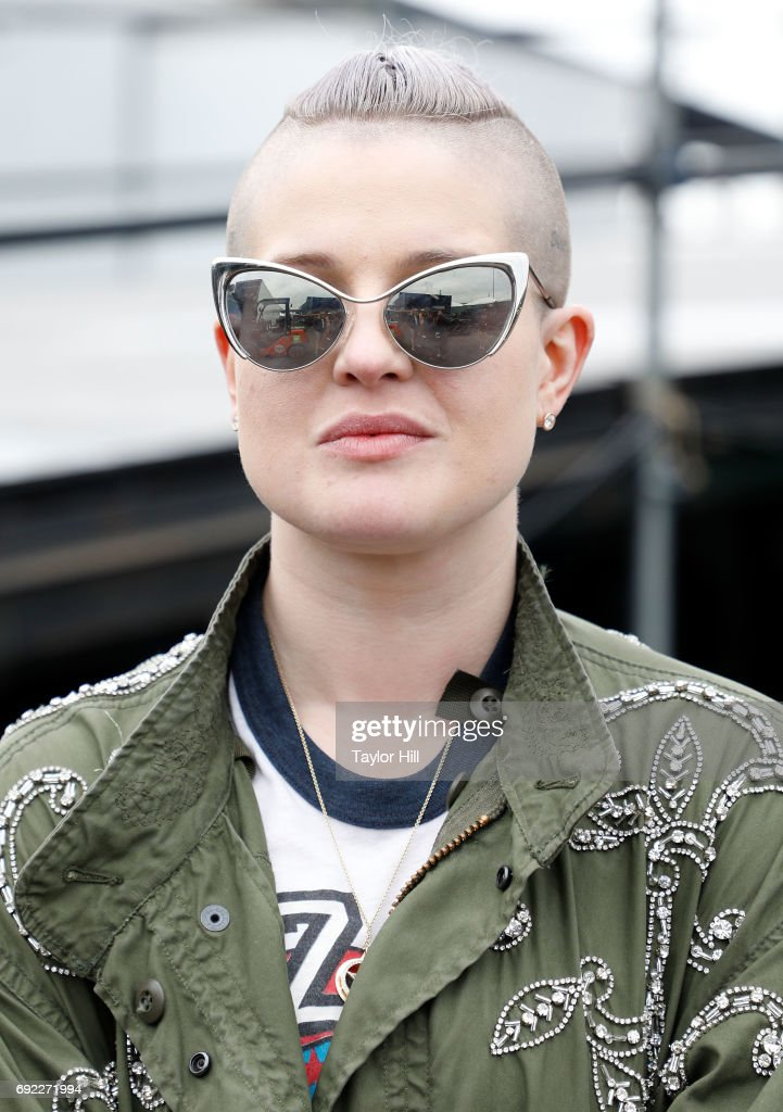 Kelly Osbourne poses backstage after attending The Orwells during 2017 Governors Ball Music Festival - Day 3 at Randall's Island on June 4, 2017 in New York City.