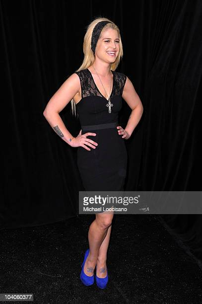 Kelly Osbourne poses backstage at the Tracy Reese Spring 2011 fashion show during Mercedes-Benz Fashion Week at The Studio at Lincoln Center on...
