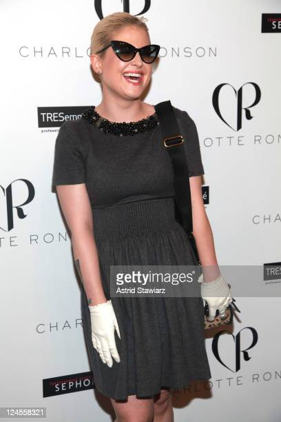 Kelly Osbourne poses backstage at the TRESemme at Charlotte Ronson Spring 2012 show during Mercedes-Benz Fashion Week at The Stage at Lincoln Center...