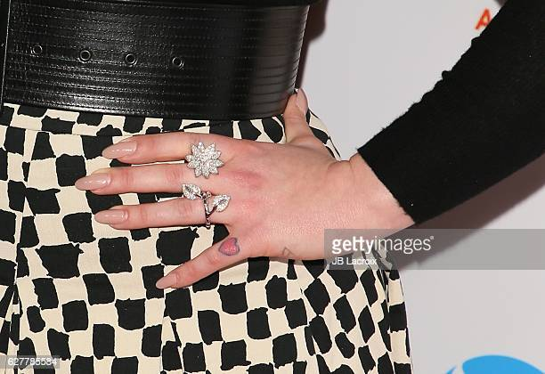 Kelly Osbourne ring details attends the TrevorLIVE Los Angeles 2016 Fundraiser on December 04 2016 in Beverly Hills California
