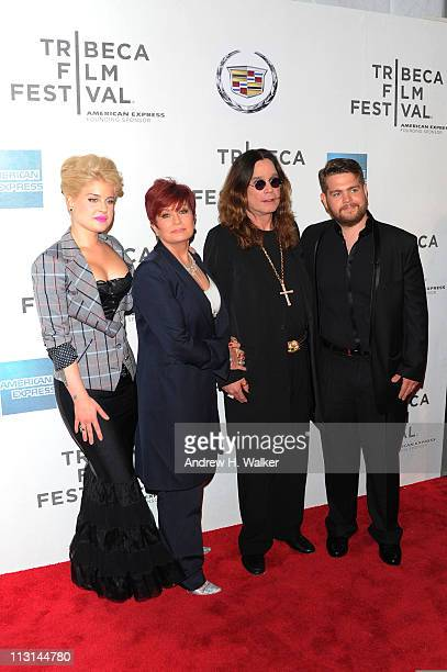 Kelly Osbourne Sharon Osbourne Ozzy Osbourne and Jack Osbourne attend the premiere of God Bless Ozzy Osbourne during the 2011 Tribeca Film Festival...