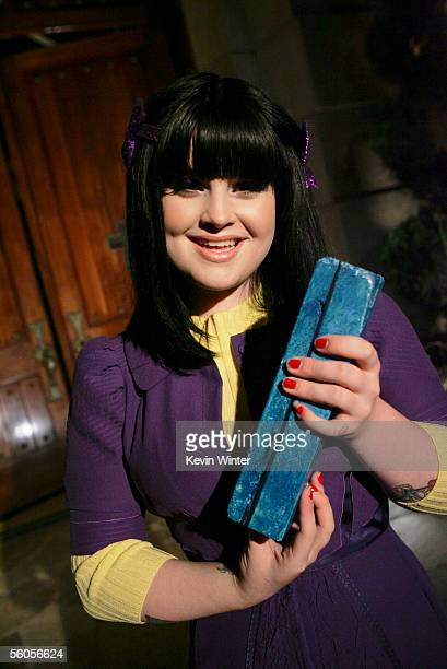 Kelly Osbourne signs symbolic blue bricks as she records her contribution to the new disaster relief charity single a cover of the Sir Eric Clapton...