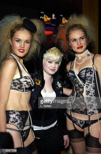 Kelly Osbourne with Agent Provocateur models during Premiere of Lucky Strike Lanes 'Bowling Lounge' at Lucky Strike Lanes in Hollywood California...