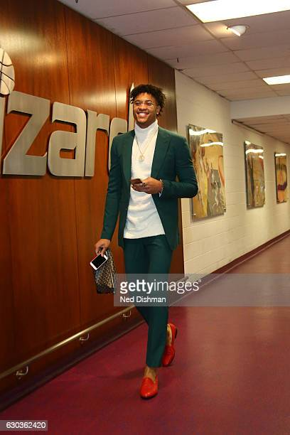 WASHINGTON DC DECEMBER 18 Kelly Oubre Jr #12 of the Washington Wizards arrives before the game against the Los Angeles Clippers on December 18 2016...