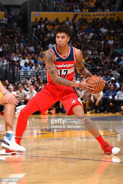 Kelly Oubre Jr #12 of the Washington Wizards handles the ball against the Los Angeles Lakers on October 25 2017 at STAPLES Center in Los Angeles...